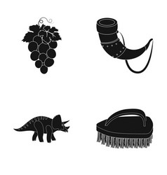 Cleaning winemaking and or web icon in black vector
