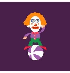 Clown balancing on ball vector