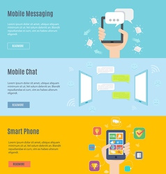 Element set of mobile concept icon in flat design vector image vector image