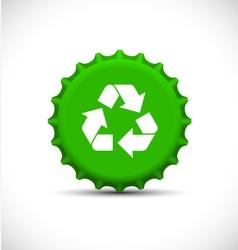 Green bottle tops vector image vector image