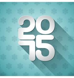 Happy New Year 2015 typographic design vector image