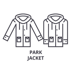 park jacket line icon outline sign linear symbol vector image vector image