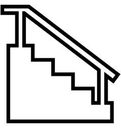 stairs line icon vector image vector image