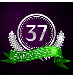 Thirty seven years anniversary celebration with vector image