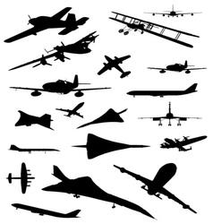 Vintage Plane Silhouette vector image