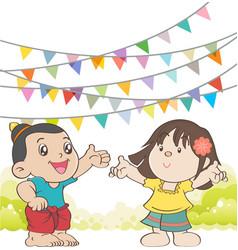 Welcome to Songkran Festival Thailand vector image