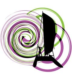 Windsurfing vector image vector image