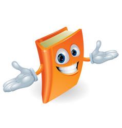 book cartoon character mascot vector image