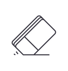 eraser line icon sign on vector image