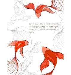 fish card vector image
