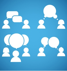 Sillhiuettes of talking people collection vector image