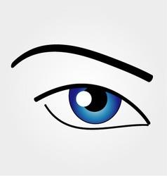 The Human Eye vector image vector image