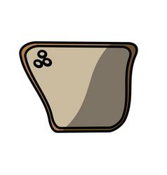 bread food picnic shadow vector image