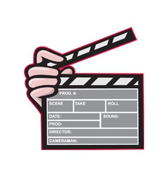 Clapboard Clapperboard Clapper Front vector image