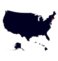 Connecticut State in the United States map vector image