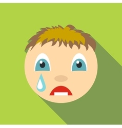 Cry icon flat style vector image