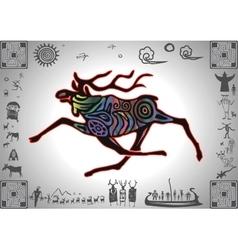 Kokopelli Glow Elk vector image vector image
