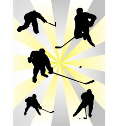 NHL ice hockey vector image