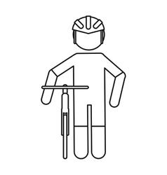 professional racing cyclist uniform helmet bicycle vector image