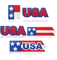 USA badges vector image vector image