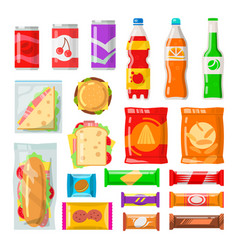 vending machine products vector image vector image