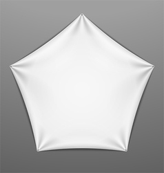 White stretched pentagonal shape with folds vector image vector image