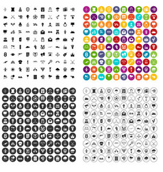 100 arrow icons set variant vector image