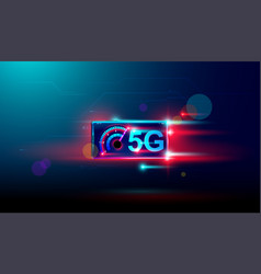 5g wireless internet with high speed download and vector