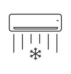 Air conditioner linear icon vector