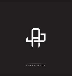 Aj initial letter overlapping interlock logo vector