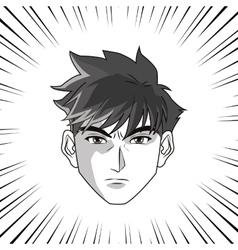 Anime boy cartoon design vector