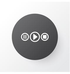 Audio buttons icon symbol premium quality vector