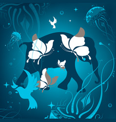 background with animals abstraction vector image