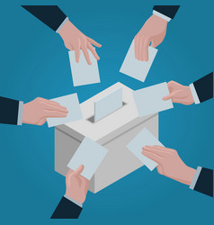 Ballot concept background isometric style vector