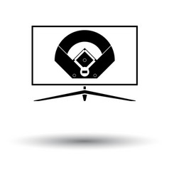 Baseball tv translation icon vector