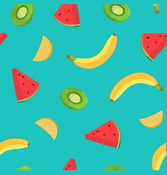beautiful seamless pattern with bananas and pieces vector image