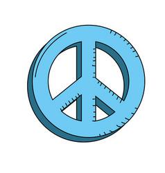 beauty hippie emblem symbol design vector image