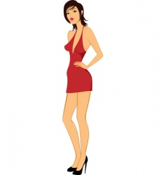 beauty model woman posing illustration vector image