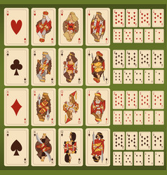 Big set of playing cards with stylized vector