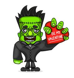 cartoon zombie character vector image