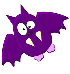 Cartton Of Purple Bat vector image