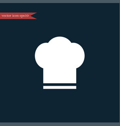 chef hat icon simple vector image