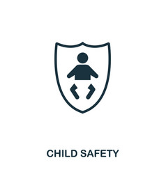 child safety icon mobile apps printing and more vector image