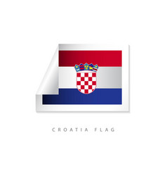 croatia label flags template design vector image