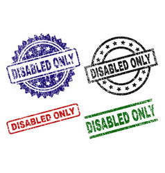 damaged textured disabled only seal stamps vector image