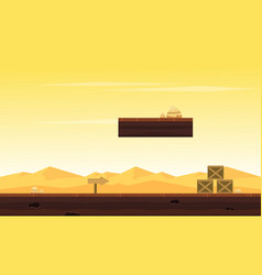 desert style background game collection vector image