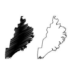 Eastern region iceland island regions iceland vector