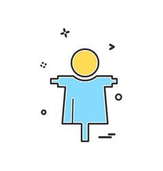 farm clown icon design vector image