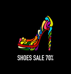 Fashion shoes for your design vector