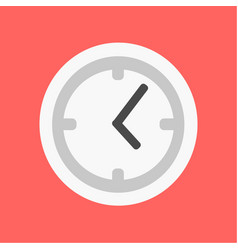 Flat clock icon time flat vector
